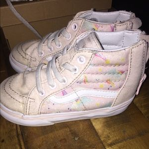 Toddler size 6.5 Vans Unicorn pale pink glitter